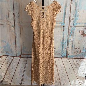 Winston White Nude Lace dress